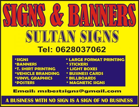 PVC BANNER SIGNS AT LOW COSTS