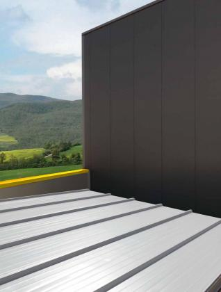 Sandwich panel roofing