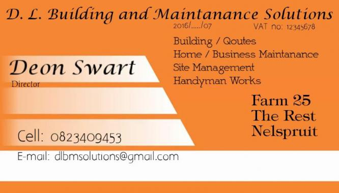 Building maintanance and renovations Services
