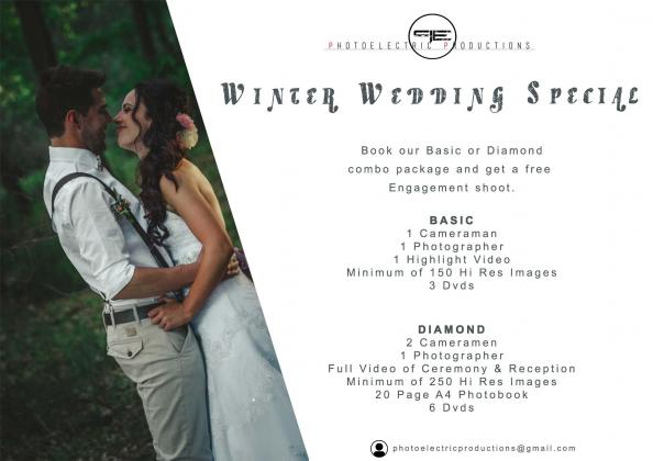Winter Wedding Photography and Video Special