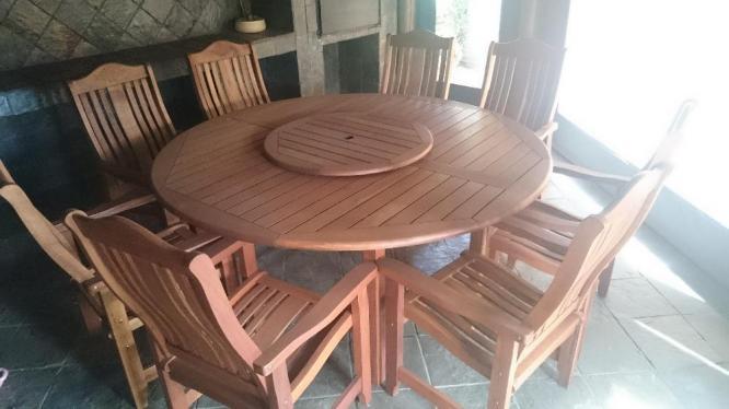 Wood Patio Furniture Set (8 Seater) in Centurion, Gauteng