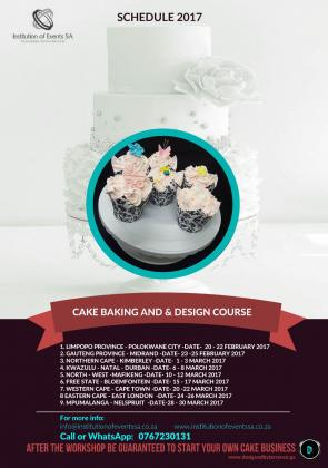 Cake baking and design lessons