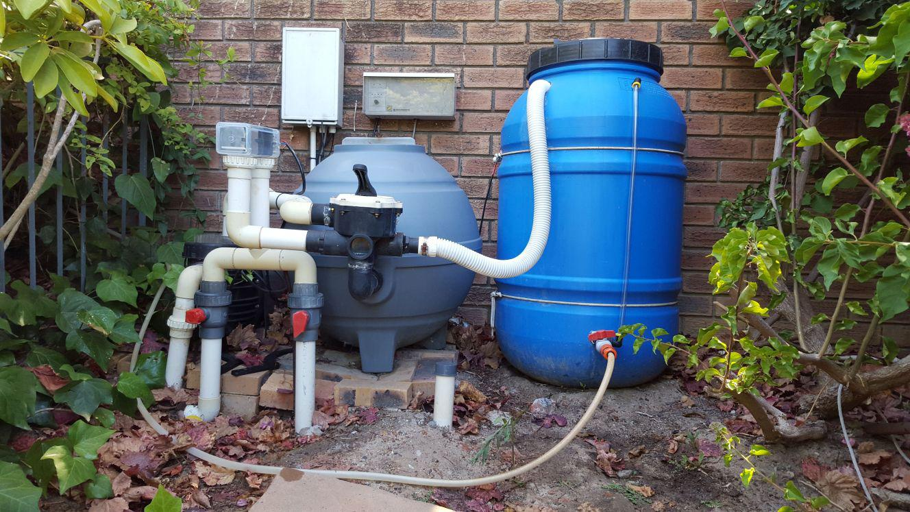 Swimming Pool Filtration Services : Save water recycle swimming pool filter backwash