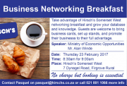 Hirsch's Somerset West Business Networking Breakfast