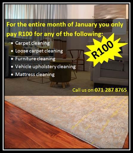 Unique Carpet Cleaners Crazy January Special Durbanville