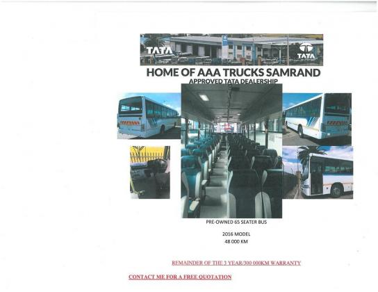 2016 Tata LPO 1823, 65 Seater Bus in Midrand, Gauteng