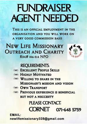 Fundraising Agent Needed