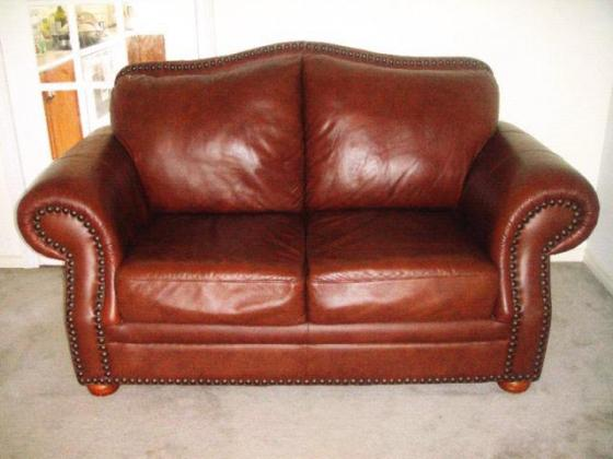 Leather Couches Set