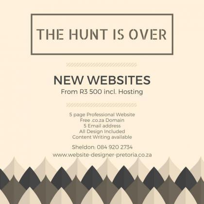 Professional Website Design Company located in Pretoria