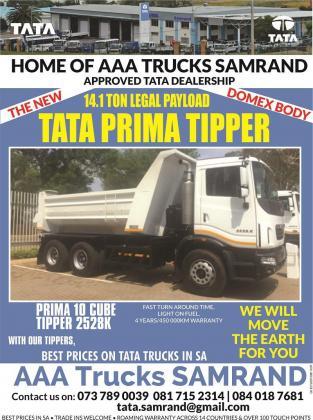 TATA Prima 2528 K, 10 Cube Tipper Brand New 2017 in Midrand, Gauteng