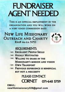Fundraising Agent Needed