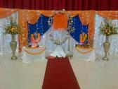 Beautiful Funeral stage decors, Godlamps, Vases included, 16 day Ceremonies, Thanksgiving services