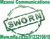 Sworn language translation services