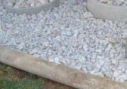 White Silica Cream Dump Rock & Gravel Stones
