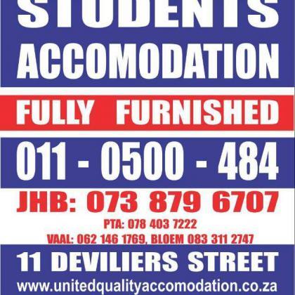 accommodatiofor students in pretoria in Pretoria-Tshwane, Gauteng