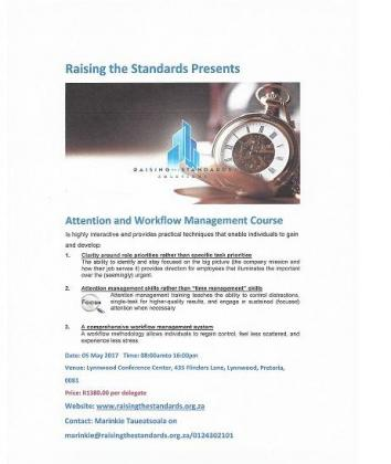 Attention and Workflow Management Course
