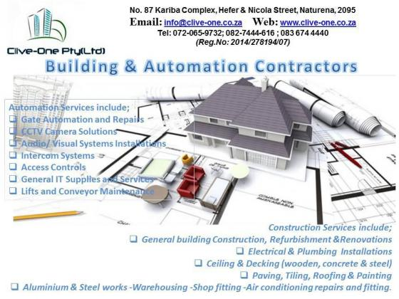 FOR ALL YOUR BUILDING CONSTRUCTION AND AUTOMATION NEEDS