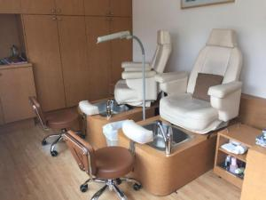 Two Pedicure massage chairs