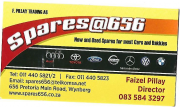 NEW AND USED SPARES FOR ALL MAKES AND MODELS ONLY AT SPARES@656