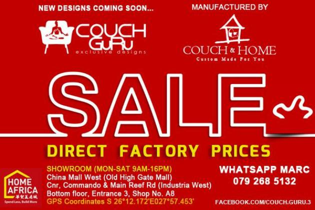 COUCH GURU FACTORY PRICE SALE