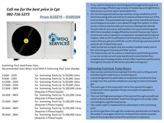 Pool heat pumps