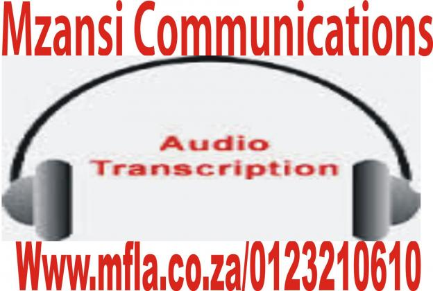 Transcription and translation services in SA