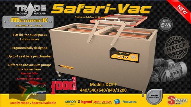 Vacuum Sealers from Safari-Vacu2122 Evolution Range  Built Tough