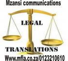 Legal/ official translation services