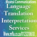 Variety of translation services