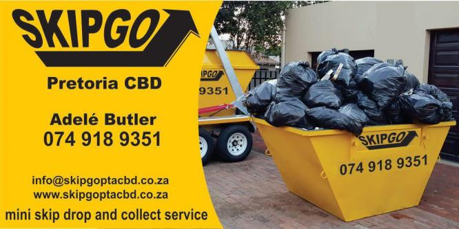 SkipGo Pta CBD - Mini Skip/bin drop and collect service in Pretoria-Tshwane, Gauteng