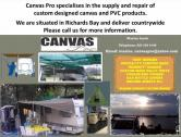 Canvas Products manufactured and repaired