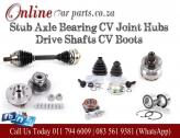 High Quality Drive Shafts CV Joints Inner CV Outer CV Stub Axle Hub Bearing CV Boots Knuckles Recon
