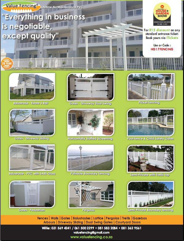 Value Fencing PVC No Maintenance Balustrade, Pool, Picket
