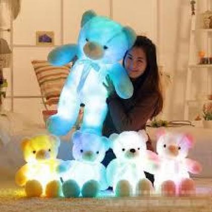 50cm Creative Light Up LED Teddy Bear Stuffed Animals Plush Toy