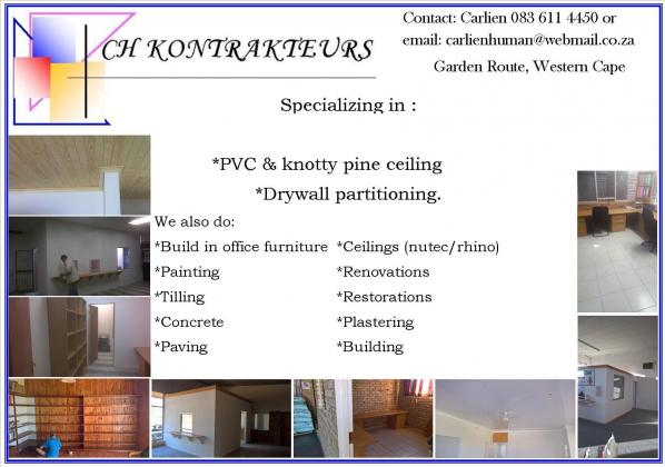 Dry walls and ceilings