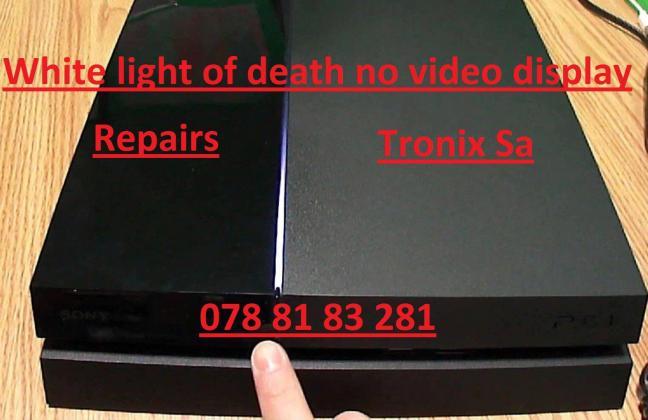 Playstation 4 White Light No display repair in Pretoria-Tshwane, Gauteng