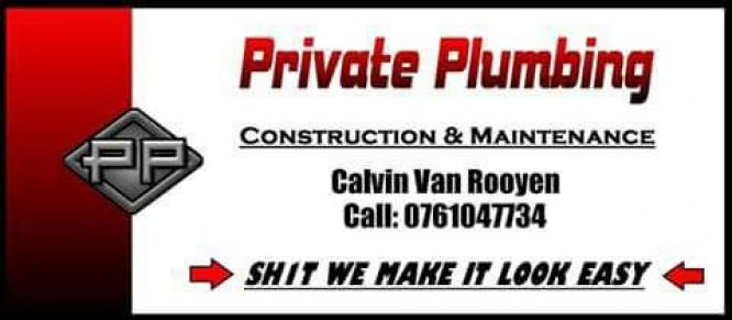 Private Plumbing - Construction and Maintenance