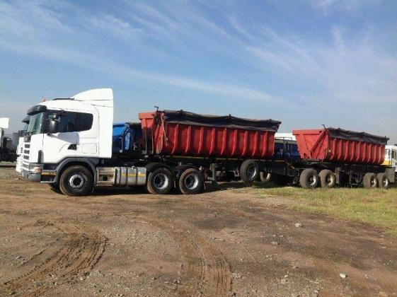 Trucks and 34 Ton Side Tipper Trailers work available now