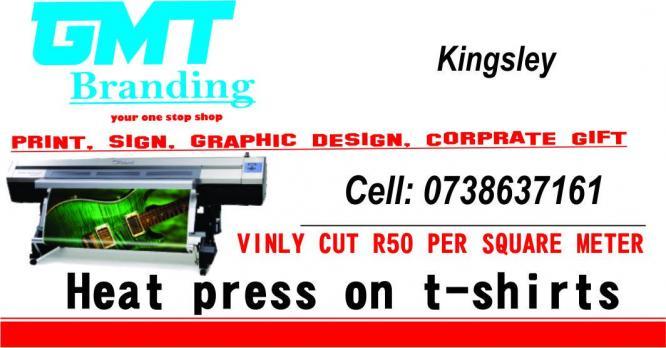 vinly cut & heat press on t-shirt