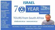 ISRAEL 2018 - CHURCH GROUPS -70th CELEBRATION TOURS WITH TOURLEADER SINCE 1994