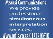 Professional simultaneous interpreting services