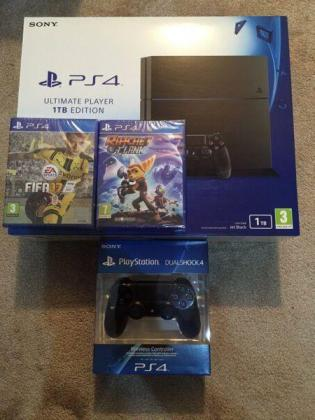 ​Brand new Playstation 4 - 1TB + Extra Controller + 1 Game (Sealed in BOX)