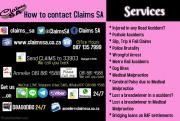 Claims SA works all across the country with a number of different claims