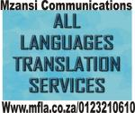Language translation services in SA
