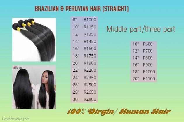 Brazilian hair bundles R1,150 in Port Elizabeth, Eastern Cape
