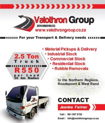 Rubble removals / Industrial / Commercial and Residential pick ups and deliveries