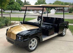 Custom designed Streetrod Rolls Royce style Golf Cart