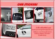 Print personalized car stickers