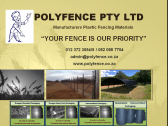 QUALITY HDPE (HIGH DENSITY POLY ETHYLENE) FENCING PRODUCTS ONLY AVAILABLE AT POLYFENCE PTY LTD