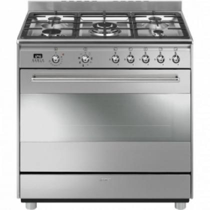 BUY SMEG GAS/ELECTRIC COOKER 5 PLATE STAINLESS STEEL - SSA91MAX9
